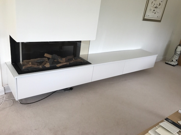 Bay Joinery - Swansea Joinery Service - Storage - Bespoke Fireplace Storage 2
