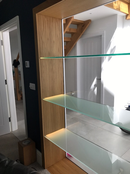 Bay Joinery - Swansea Joinery Service - Storage - Bespoke Glass Shelf Storage 2